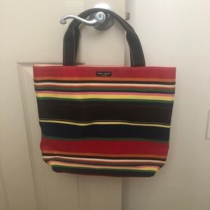 Kate Spade multi color canvas tote EUC